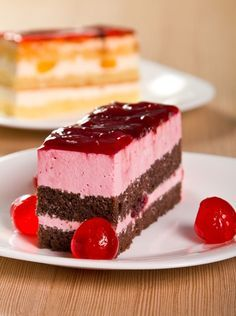 Photo about Cherry and chocolate cake with dried cherries. Image of food, pastry, sweet - 21873908 Cake Stock, Cherry Cake, Dried Cherries, Sweet 16 Parties, Recipe Images, Chocolate Cake, Cheesecake, Strawberry, Food And Drink