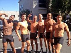 Holy abs! See how these hunks help @sherylunderwood make a grand bday entrance on #TheTalk in minutes!