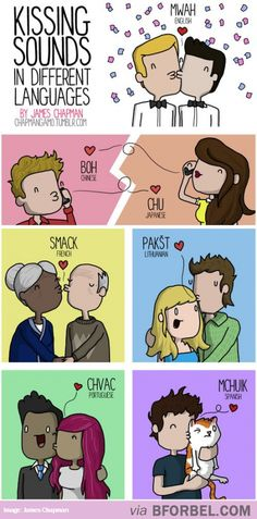 Kissing Sounds In 7 Languages…