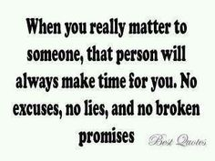 NO broken promises