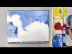 Painting Clouds in Watercolor - YouTube