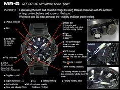 Hands-on with the upcoming 2015 Casio G-Shock MR-G ref. watch with a solar atomic GPS tough movement produced in all DLC titanium Smartwatch, Revolution, New G Shock, Casio G-shock, G Watch, Powerful Images, Pre Production, G Shock Watches, Cute Photos