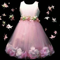 Very pretty dress apart from hem. Remove those flowers or replace with same as at the waist