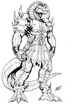 Paid for artwork commission done for me by Matt Frank-Godzilla Samurai. It's the evil Ghengis Rex from the 1987 Dinosaucers cartoon. Ghengis Rex by GodzillaSamurai Fantasy Drawings, Dark Art Drawings, Fantasy Artwork, Fantasy Dragon, Dragon Art, Dragon Coloring Page, Coloring Pages, Fantasy Character Design, Character Art