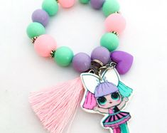LOL Surprise Inspired Bracelet - Pranksta -LOL Surprise Doll beaded Bracelet - LOL Surprise Birthday Party