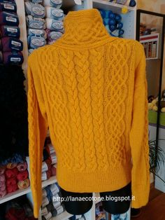 Lana e Cotone (maglia e uncinetto): Cardigan a ferri