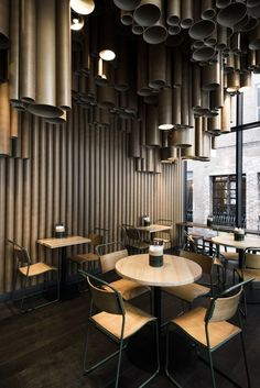 TECHNÉ MAKES CREATIVE USE OF CARDBOARD TUBES AT GRILLu0027Du0027S NEW MELBOURNE  EATERY