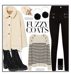 """Keep it Cozy: Fuzzy Coats (Top Set)"" by tlb0318 ❤ liked on Polyvore featuring Paige Denim and Context"