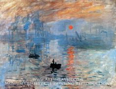 Impression Sunrise by Claude Monet. Museum Quality Oil Painting Reproductions On Canvas.