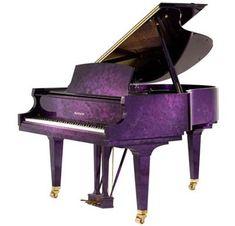 purple piano...