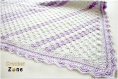 Corner to Corner Baby Blanket crochet pattern by CrochetZone.com #crochet #freepatterns #babyblanket