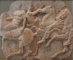 """Greek Parthenon Sculptures from the """"Elgin Marbles"""" at the British Museum"""