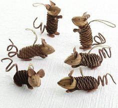 Pinecone Mice Ornaments