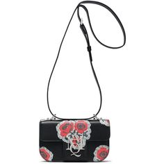 Alexander Mcqueen Cross Body ($920) ❤ liked on Polyvore featuring bags and black