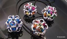 daisykreates: Chainmaille Temari Pendants