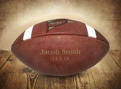Personalized Football Engraved Ring Bearer by UrbanFarmhouseTampa