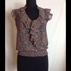 Floral print blouse Floral print sleeveless blouse dm bm Tops Blouses