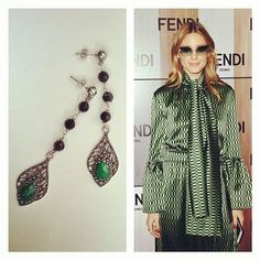 My favorite  icon of style : Olivia Palermo!  I am !  #earringsoftheday #picoftheday #oliviapalermo #styleicon #fashionicon #icon #fashionweek #fashionstyle #fashionblogger #bijouxlovers #bijouxhandmade #jewelry #gioielliartigianali #fattoamano #joyasartesanales #hechoamano #pendientes #bouclesdoreilles #faitmain #marieclaire #vogueaccessory #accessory #solocosebelle #instablog
