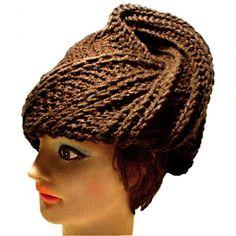 Deitra Womens Crochet Turban Hat Chemo Head Wrap Head Warmer for Winter in  Brown e90ec01742f