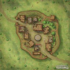 Fantasy Map Making, Fantasy City Map, Dungeons And Dragons Game, Dungeons And Dragons Homebrew, Dnd World Map, Grimgar, Pathfinder Maps, Village Map, Rpg Map