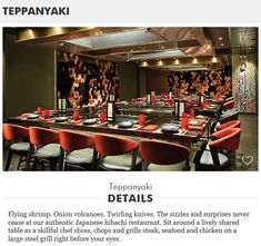 Specialty Dining on-board the Norwegian Bliss - Teppanyaki