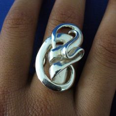 Solid Sterling Silver Fork Ring