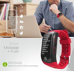 Pater Joy G03 GPS Heart Rate Watch Bluetooth Waterproof Smart Bracelet Call Reminder ,Sleep Monitor Fitness Sports Bracelet (Red) 50.99  #All-dayActivityTracking:Accuratelyrecordall-dayactivitieslikesteps,distance,caloriesburned,andactiveminutes. #Built-insportsapps,includingGPS-enabledrunning,bikingandgolfingplusswimmingandactivitytracking¹,letyouviewyourstatsevenwhenawayfromyourphone...