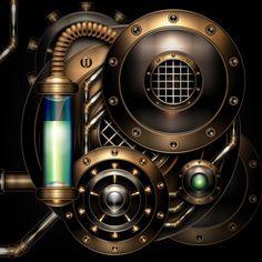 Steam engine in the dark by IllustratorG on DeviantArt
