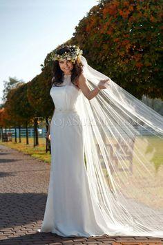 Elegantes Schlichtes Brautkleid 2013 aus Chiffon