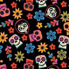 Disney Coco Fabric By The Yard and half yard and other various Tapas, Disney Fabric, Disney Wallpaper, Day Of The Dead, Art Sketchbook, Disney Art, Painted Rocks, Pixar, Beauty And The Beast