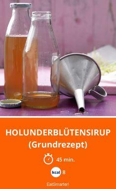 Holunderblütensirup - (Grundrezept) - smarter - Kalorien: 8 Kcal - Zeit: 45 Min. | eatsmarter.de