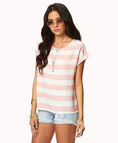 Striped Satin Top | FOREVER 21 - 2017442771
