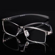 ea5db357c0 Men Titanium Alloy Eyeglasses Frame for Men Eyewear Flexible Temples Legs  IP Electroplating Alloy Material Full