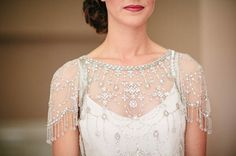 Pale Blue and Pretty Maids and an Elegant Jenny Packham 'Damask' Bride...
