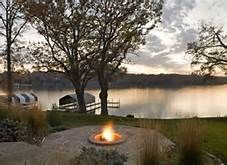 Waterfront Landscaping Ideas Bing Images Fire Pit Lighting Firepit Design