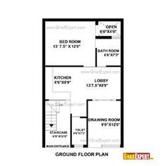 House plan for 21 feet by 50 feet plot plot size 117 for Find plot plan online