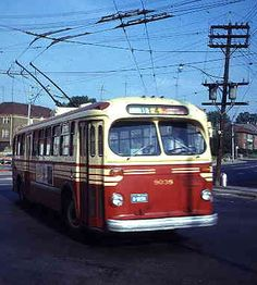 The old Annette Street trolley bus pulling into the Jane Loop sometime in the early-mid '60s