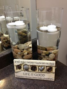 Ideas To Decorate Bathroom add rocks to your bathroom sink for a simple spa look. | master