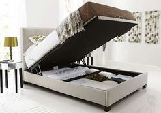 Practical Hygena Bounty White Bed Frame Beds & Mattresses Small Double Aesthetic Appearance Bed Frames & Divan Bases