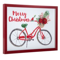 a55c36e85015 Merry Christmas Bicycle Framed Wall Decor