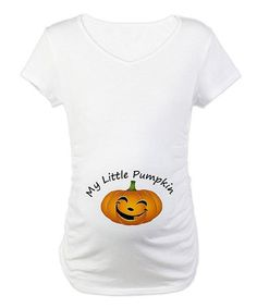 Take a look at this White  My Little Pumpkin  Maternity Tee by CafePress on e493cc3eb