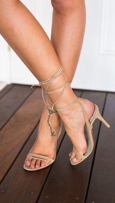 Crystal Heels (nude) - WINDSOR SMITH