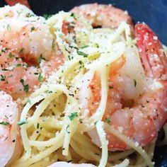 Recipes | Angel Hair Pasta with Shrimp, Parmesan and Lemon Juice | Sur La Table
