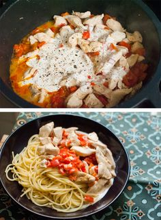 #Chicken & red pepper #pasta: a tasty dinner in less than 30 minutes for this week.