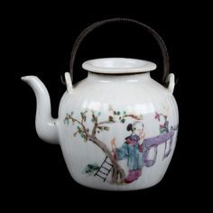 China 19. Jh. Fencai Teekanne - A Chinese Famille Rose teapot - Chinois Cinese