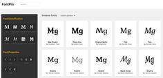 Buscador de tipografias online