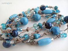 Boho hand knotted Necklace/Bracelet by JustynaSart, £17.99