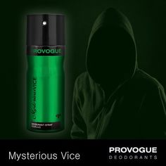 Reveal your dark side with Provogue's Mysterious Vice! With a fragrance that exudes pure mystery, stay fresh even as you get ready for the next adrenaline rush!  Pick it up at a Provogue Store near you!
