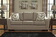 "The ""Arietta-Shitake"" sofa is stylish as it is comfortable."