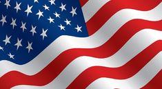 Stars and stripes - USA flag - Vector. Stars and stripes - Flag of the USA wavin ,